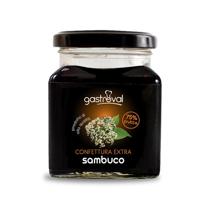 vasetto di confettura sambuco