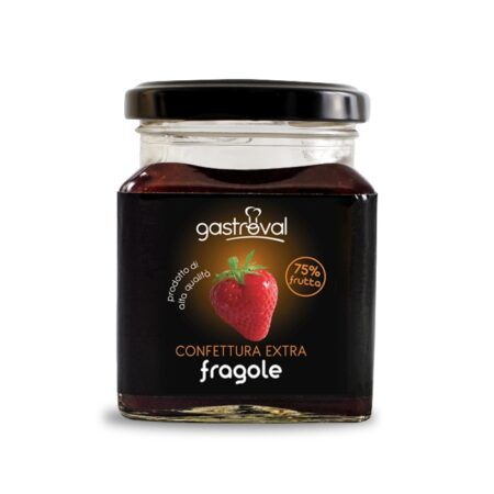 vaso quadrato confettura di fragole