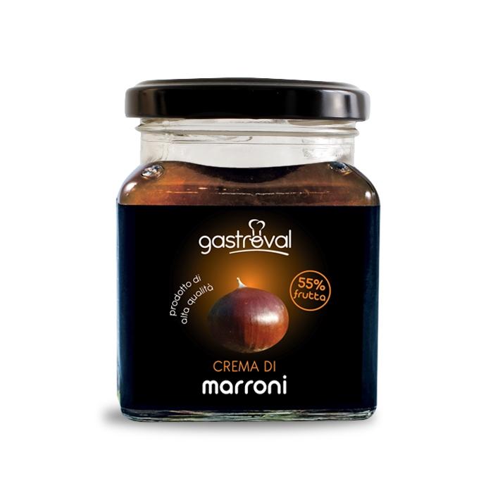 vaso quadrato di crema di marroni gastroval da 32 gr